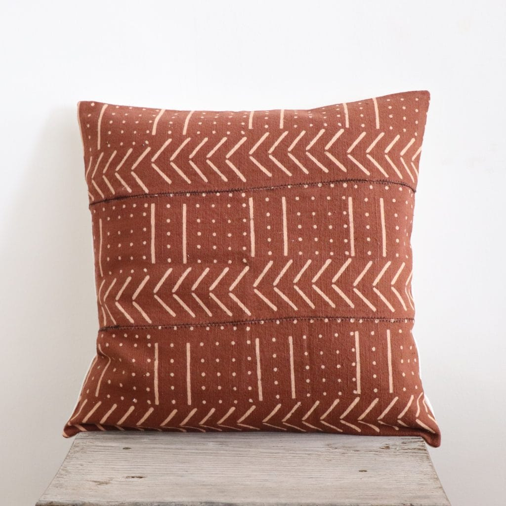 coussin africain couleur terracotta